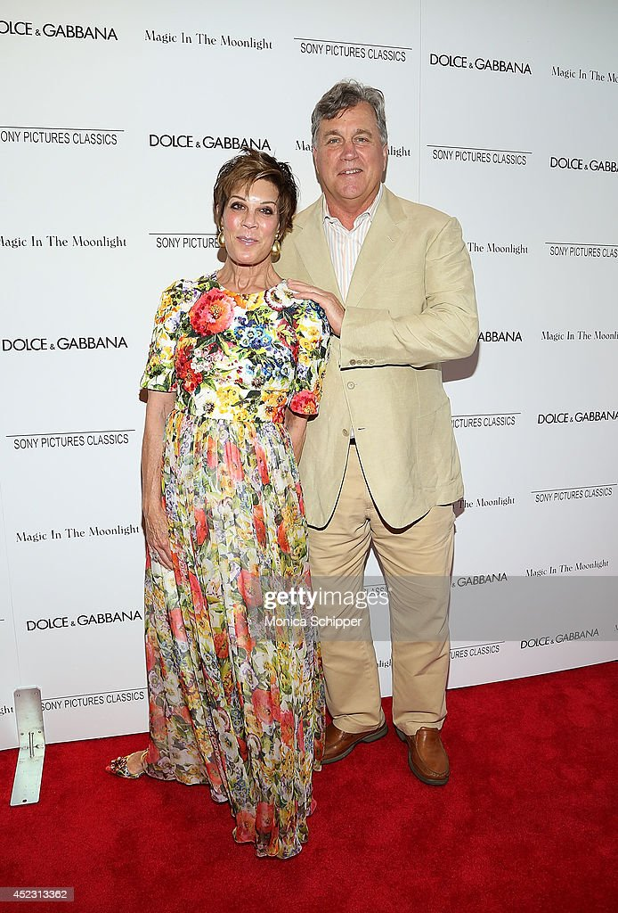 Peggy Siegel (L) and Co-President and Co-Founder of Sony Pictures Classics <a gi-track='captionPersonalityLinkClicked' href=/galleries/search?phrase=Tom+Bernard&family=editorial&specificpeople=204620 ng-click='$event.stopPropagation()'>Tom Bernard</a> attends 'Magic In The Moonlight' premiere at Paris Theater on July 17, 2014 in New York City.