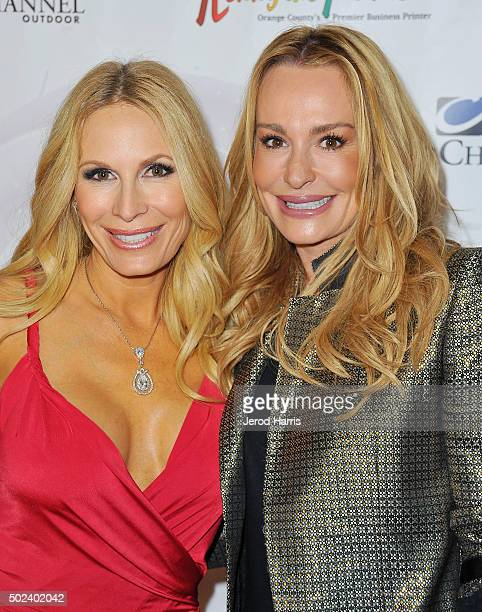 Peggy Tanous and Taylor Armstrong attend the OC Christmas Extravaganza Concert and Ball at Christ Cathedral on December 23 2015 in Garden Grove...