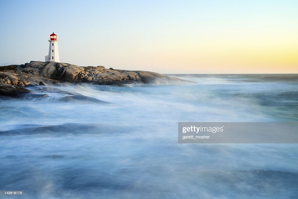 Peggy's Cove after hurricane Irene : Stock Photo
