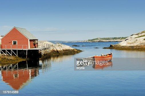 Peggy's Cove harbour near Halifax, Nova Scotia,Canada