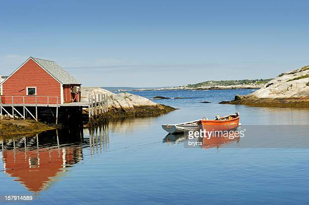 Peggy's Cove harbour near Halifax, Nova Scotia,Canada