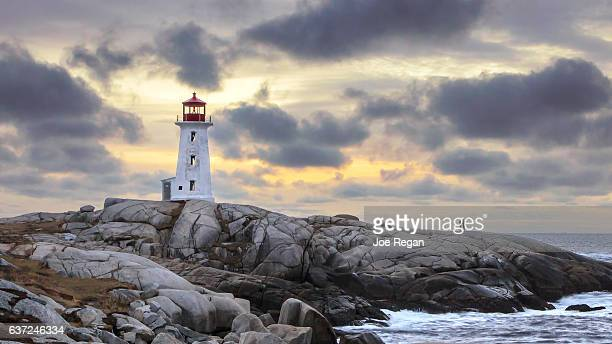 Peggy's Cove Lighthouse.