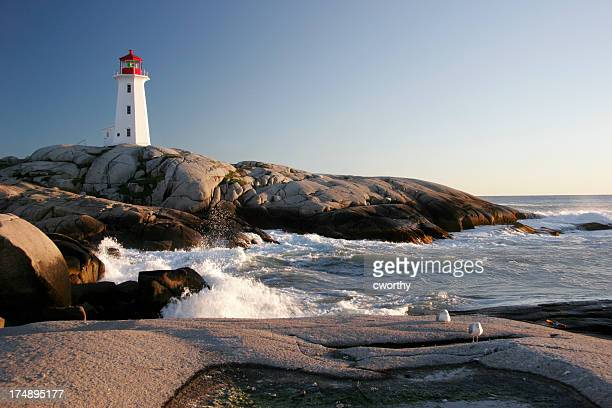 Peggys Cove Lighthouse & Waves