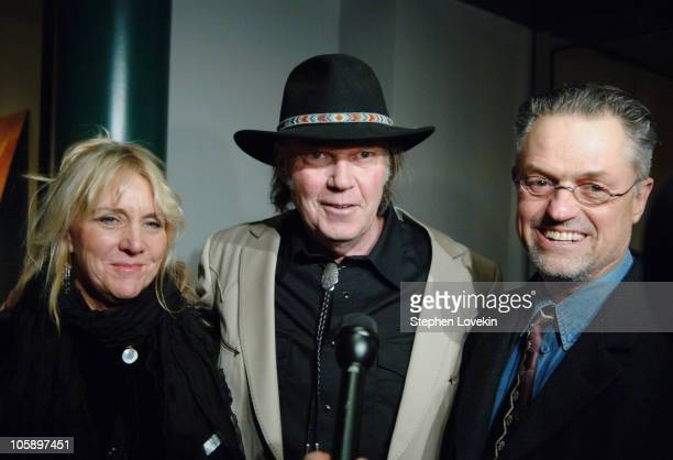 Pegi Young Neil Young and Jonathan Demme during New York Special Screening of 'Neil Young Heart of Gold' at Walter Reade Theatre at Lincoln Center in...