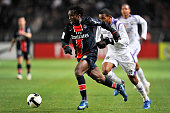 Peguy Luyindula and Ahmed Soukouna during the Ligue 1 soccer match between Paris Saint Germain and Toulouse FC