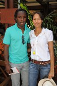 Peguy Luyindula and Julie at Roland Garros Village
