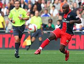 Peguy Luyindula during the French Ligue 1 soccer match between Paris Saint Germain and Olympique de Marseille