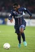 Peguy Luyindula of Paris Saint Germain in action during the french eightfinals League Cup match between Paris Saint Germain PSG and Olympique de...