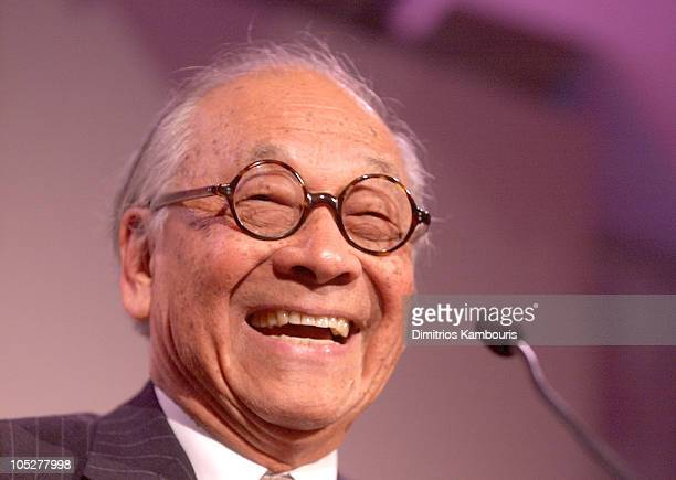 IM Pei during Coach's National Design Awards at CooperHewitt National Design Museum in New York City New York United States