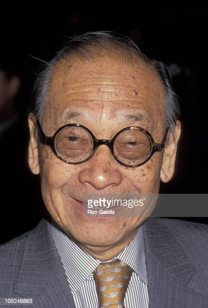 IM Pei during Landmarks Preservation Foundation Honors Philip Johnson at The Plaza Hotel in New York City New York United States