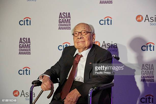 M Pei Lifetime Achievement Awardee during the Asia Game Changers 2016 Awards held at the United Nations Headquarters