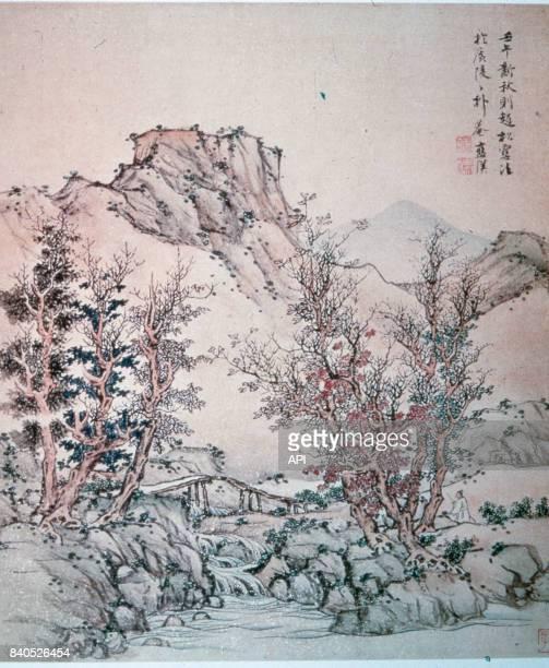 Peinture chinoise 'Paysage d'Automne' de Lan Ying