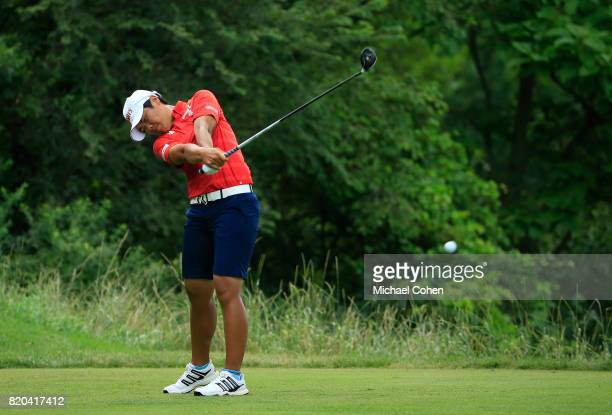 Peiyun Chien of Chinese Taipei hits her drive on the ninth hole during the second round of the Marathon Classic Presented By Owens Corning And OI...