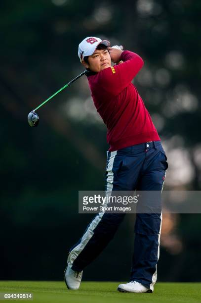 PeiYun Chien of Chinese Taipei in action during the Hyundai China Ladies Open 2014 on December 13 2014 at Mission Hills Shenzhen in Shenzhen China