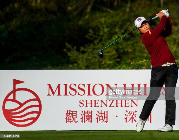 PeiYun Chien of Chinese Taipei in action during the Hyundai China Ladies Open 2014 on December 13 in Shenzhen China