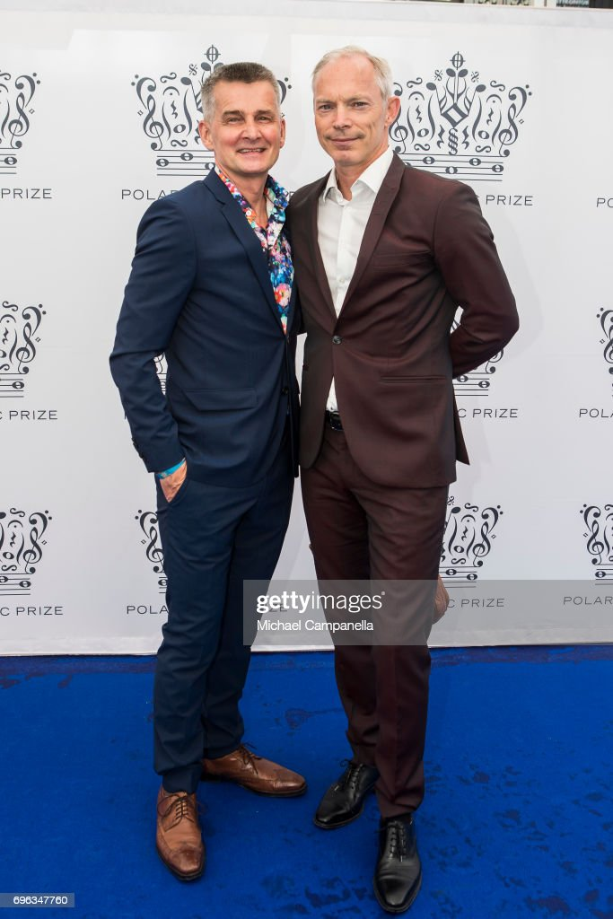 Pekka Heino and Erik Kristensen attend an award ceremony for the Polar Music Prize at Konserthuset on June 15, 2017 in Stockholm, Sweden.