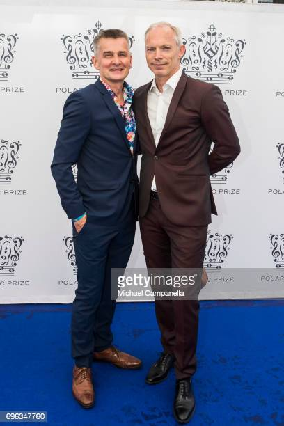 Pekka Heino and Erik Kristensen attend an award ceremony for the Polar Music Prize at Konserthuset on June 15 2017 in Stockholm Sweden