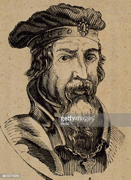 Pelagius Visigothic nobleman who founded the Kingdom of Asturias ruling it from 718 his death Portrait Engraving