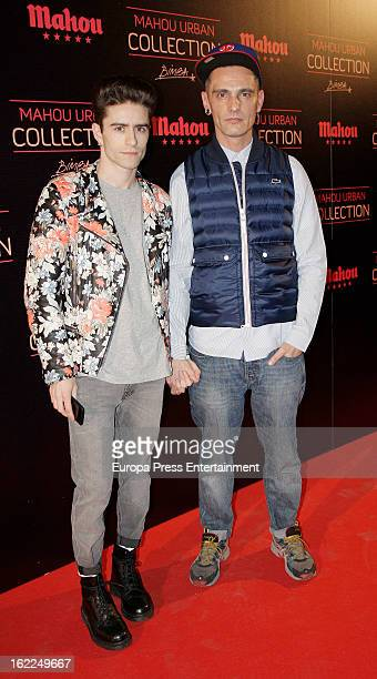 Pelayo Diaz and David Delfin attend Mahou Urban Collection during Mercedes Benz Fashion Week Madrid Fall/Winter 2013/14 on February 20 2013 in Madrid...