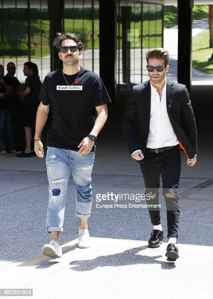 Pelayo Diaz attend the funeral chapel for the fashion designer David Delfin at Dress Museum on June 4 2017 in Madrid Spain