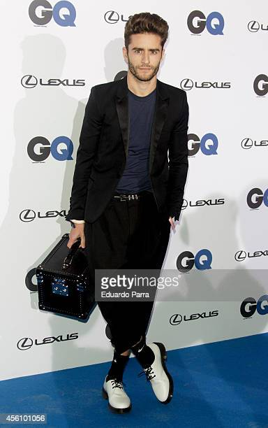Pelayo Diaz attends 'GQ Man in Progress' exhibition party photocall at The Costume Museum on September 25 2014 in Madrid Spain