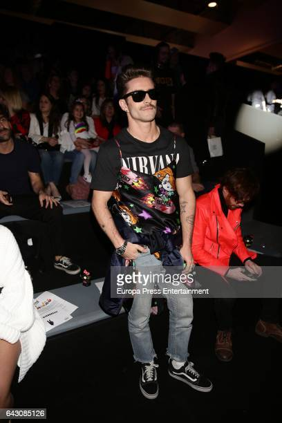 Pelayo Diaz attends Mercedes Benz Fashion Week Madrid Autumn / Winter 2017 at Ifema on February 17 2017 in Madrid Spain