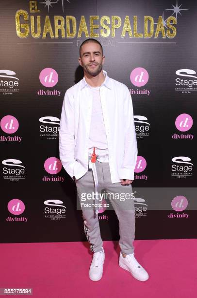 Pelayo Diaz attends the 'El Guardaespaldas' musical premiere at the Coliseum Theater on September 28 2017 in Madrid Spain