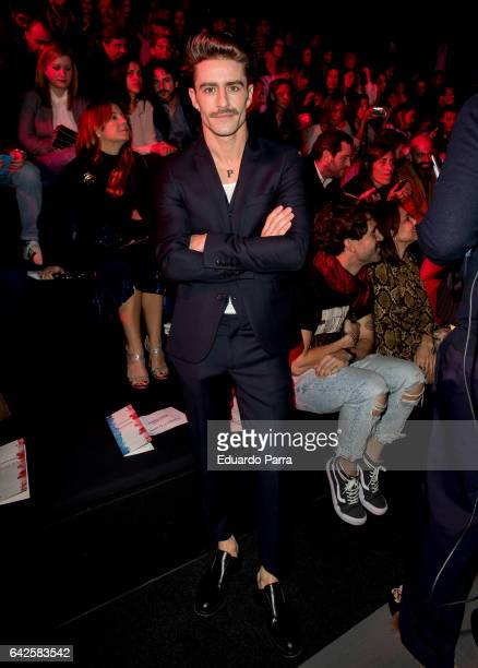 Pelayo Diaz attends the front row of Andres Sarda show during Mercedes Benz Fashion Week Madrid Autumn / Winter 2017 at Ifema on February 18 2017 in...