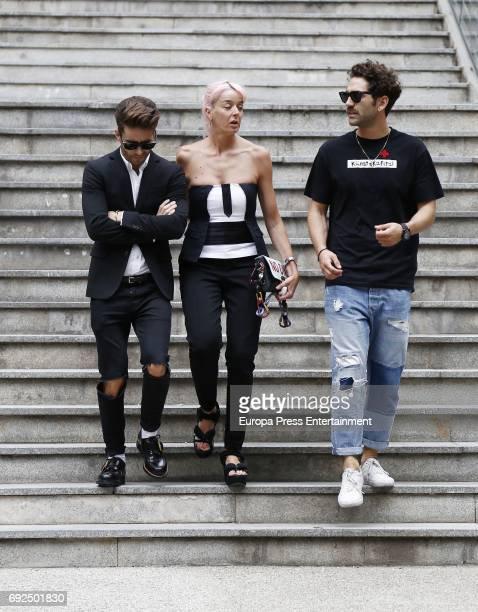 Pelayo Diaz attends the funeral chapel for the fashion designer David Delfin at Dress Museum on June 4 2017 in Madrid Spain