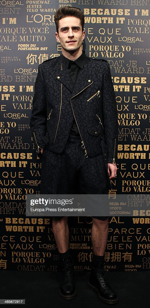 Pelayo Diaz attends the openig of L'Oreal Paris store on January 29 2014 in Madrid Spain