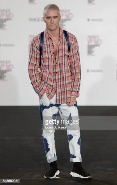 Pelayo Diaz attends tje 'Vogue fashion's Night Out' photocall at Ortega y Gasset street on September 7 2017 in Madrid Spain