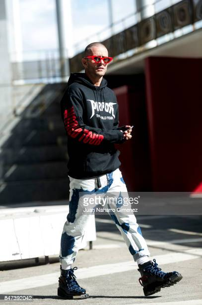 Pelayo Diaz poses during the MercedesBenz Fashion Week Madrid Spring/Summer 2018 at IFEMA on September 15 2017 in Madrid Spain