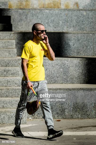 Pelayo Diaz poses during the MercedesBenz Fashion Week Madrid Spring/Summer 2018 at IFEMA on September 16 2017 in Madrid Spain
