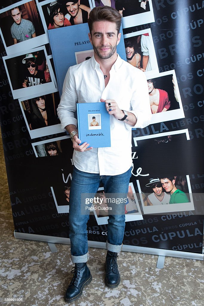 Pelayo Diaz presents his book 'Indomable' at the Intercontinental Hotel on May 31, 2016 in Madrid, Spain.
