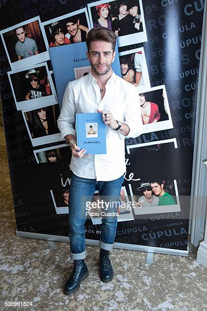 Pelayo Diaz presents his book 'Indomable' at the Intercontinental Hotel on May 31 2016 in Madrid Spain