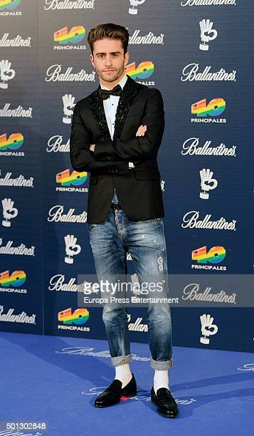 Pelayo Diaz Zapico attend the 40 Principales Awards 2015 photocall at Barclaycard Center on December 11 2015 in Madrid Spain