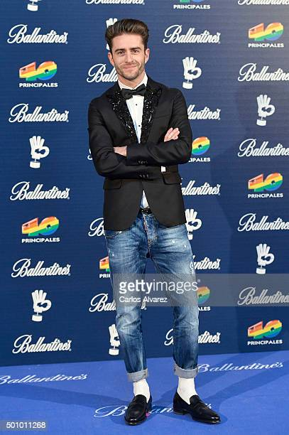 Pelayo Diaz Zapico attends the 40 Principales Awards 2015 photocall at the Barclaycard Center on December 11 2015 in Madrid Spain