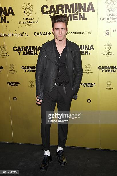 Pelayo Diaz Zapico attends the 'Carmina y Amen' premiere at the Callao cinema on April 28 2014 in Madrid Spain