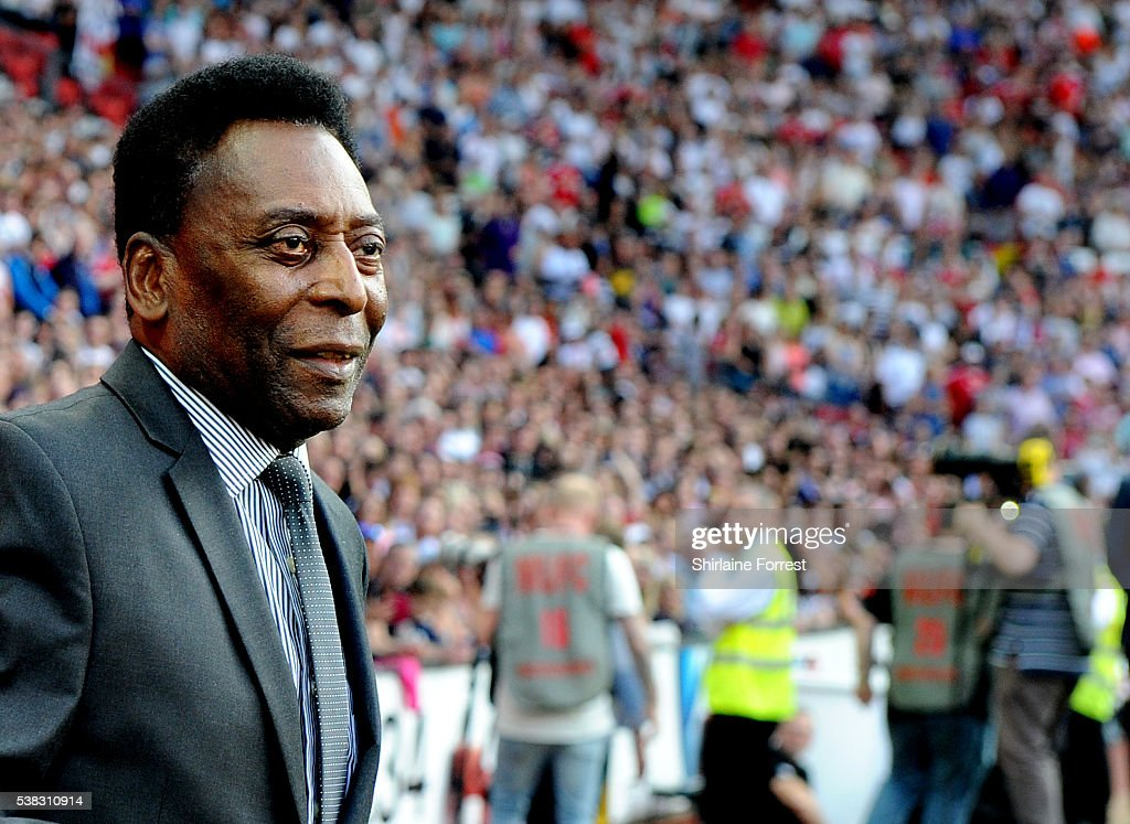 Pele attends Soccer Aid at Old Trafford on June 5, 2016 in Manchester, England.