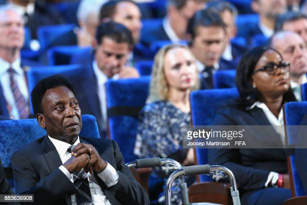 Pele looks on during the Final Draw for the 2018 FIFA World Cup Russia at the State Kremlin Palace on December 1 2017 in Moscow Russia