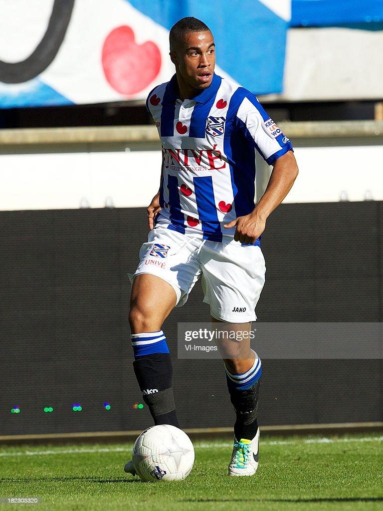 Pele van Anholt of sc Heerenveen during the Dutch Eredivisie match between sc Heerenveen and SC Cambuur Leeuwarden on September 29, 2013 at the Abe Lenstra stadium in Heerenveen, The Netherlands.