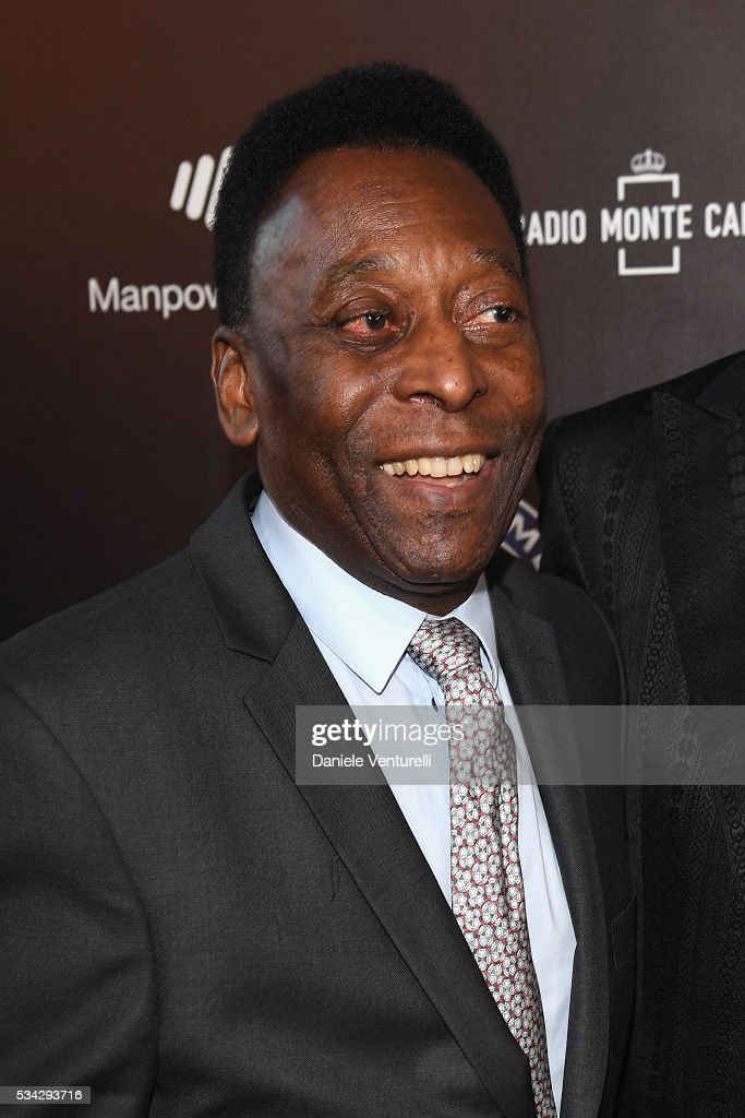 Pele walks the red carpet of Bocelli and Zanetti Night on May 25, 2016 in Rho, Italy.