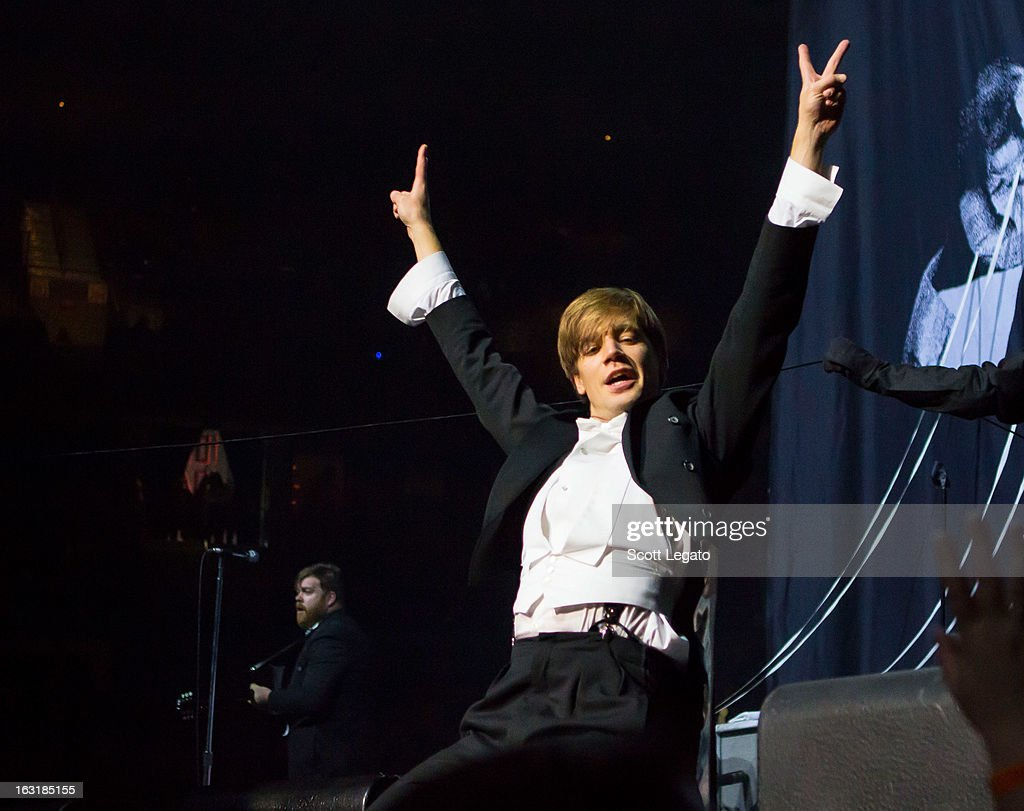 Pelle Almqvist of The Hives performs at The Palace of Auburn Hills on March 5, 2013 in Auburn Hills, Michigan.