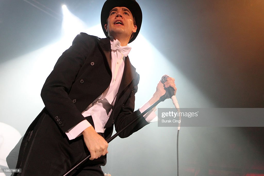 Pelle Almqvist of The Hives performs at The Roundhouse on December 14, 2012 in London, England.