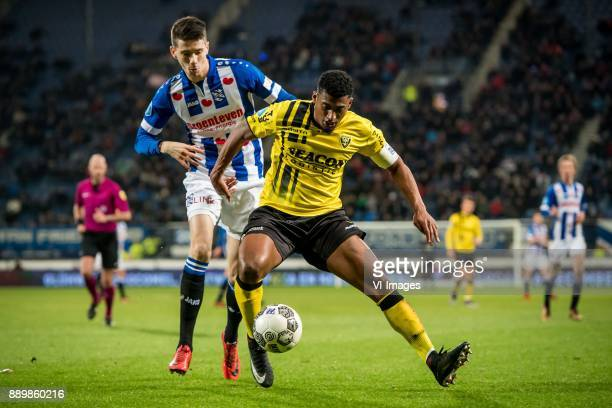 Pelle van Amersfoort of sc Heerenveen Jerold Promes of VVV during the Dutch Eredivisie match between sc Heerenveen and VVV Venlo at Abe Lenstra...