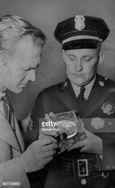 Pellissier and Mills examine the cast It's a faithful reproduction of the heel printdamaging evidence against a criminal Credit Denver Post