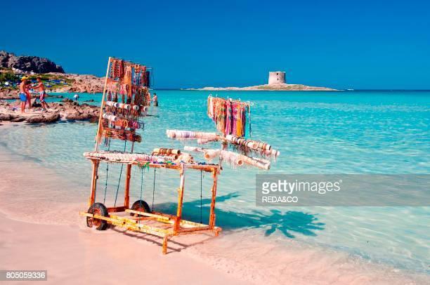 Pelosa beach Stintino Sassari Sardinia Italy Europe