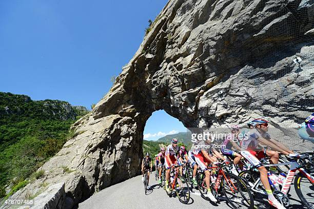 Peloton during Stage Five of the Criterium du Dauphine on June 11 2015 in Dignes Les Bains France
