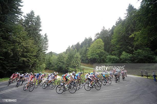 Peloton during Stage Four of the Tour de l'Avenir on August 28 Albertville to StFrancoisLongchamp France