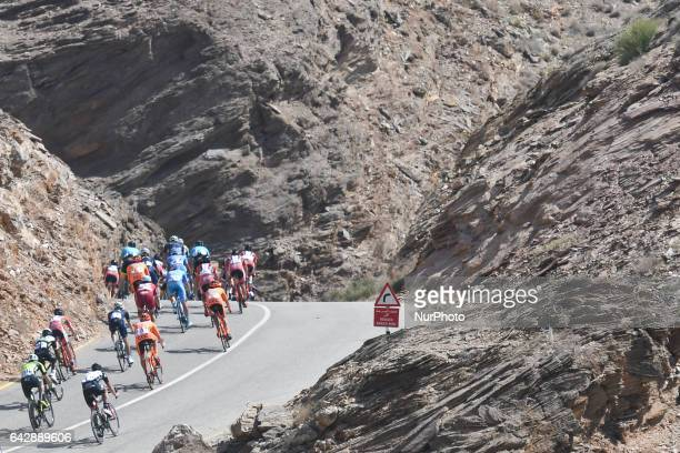 A peloton of riders during the sixth and final stage a 1305km from The Wave Muscat to Matrah Corniche at the 2017 cycling Tour of Oman On Sunday...